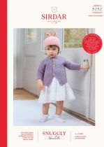 Sirdar Snuggly Bouclette Knitting Pattern Booklet - 5252 Cardigan & Hat